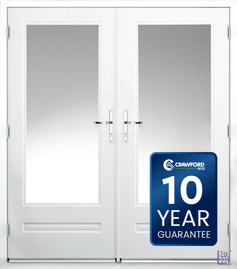 french door white rockdoor guarantee