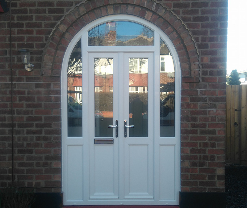 white french door composite